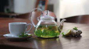 چای سبز با زنجبیل